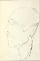 View Photographs of memorials and memorial ceremonies to Charles Lang Freer in Kyoto; photographs of Freer's death mask, and a sketch of the deceased Freer by Katharine Nash Rhoades 1919-1930 digital asset number 15