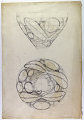 View Excavation of Persepolis (Iran): Reconstruction of Pottery with Painted Patterns: Conical Bowl, Numbered 3366, from Prehistoric Mound of Tal-i Bakun (PPA) [drawing] digital asset number 1