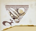 View Excavation of Persepolis (Iran): Reconstruction of Pottery with Painted Patterns: Conical Bowl, Numbered 3366, from Prehistoric Mound of Tal-i Bakun (PPA) [drawing] digital asset number 2