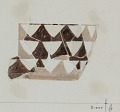 View Excavation of Persepolis (Iran): Reconstruction of Pottery with Painted Patterns: Nine Conical Bowls with Geometrical Ornaments, from Prehistoric Mound of Tal-i Bakun (PPA) [drawing] digital asset number 8