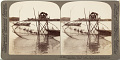 """View (46) - 3885 - A picturesque """"toiler of the sea"""" with his curious fishing net, bay of Matsushima, Japan, 1904 or earlier. [graphic] digital asset number 0"""
