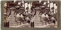 View (83) Beautiful stone lanterns at Sumiyoshi - votive offerings to the Gods of the Sea, (north) Osaka, Japan, 1904 or earlier. [graphic] digital asset number 0