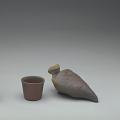 View Bird-shaped saké bottle and cup digital asset number 0