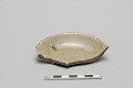 View Small dish with rim and part of base with ash glaze digital asset number 0