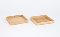 View Two square paulownia wood trays digital asset number 0