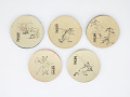 View Set of paper plates with scenes from Chōjū-jinbutsu-giga digital asset number 0