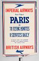 View Imperial Airways British Airways Paris in 70 Flying Minutes 8 Services Daily digital asset number 0