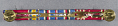 View Ribbon Bar, WWII Victory, American Campaign, and Army Good Conduct Medals digital asset number 2