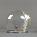 View Helmet, Pressure Bubble, Eisele, Apollo 7 digital asset number 4