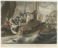 View The Preservation of Sir Richard MacGuire who fell into the Sea (by the descent of a Balloon) off the Coast of Ireland, on the 12th of May 1785. digital asset number 0