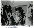 """View 16th Fighter Squadron Photograph Collection [Li] digital asset: NASM 9A10787, US Army Air Forces pilot Kuo Ching """"K. C."""" Li, Jr. in the cockpit of his North American P-51 Mustang """"The Vicious Virgin""""; China, 1944."""