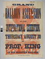 View Professor King Grand Balloon Ascension Poster digital asset: Professor King Grand Balloon Ascension Poster