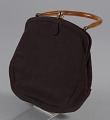 View Brown handbag with amber handle from Mae's Millinery Shop digital asset number 0