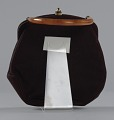View Brown handbag with amber handle from Mae's Millinery Shop digital asset number 3