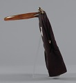 View Brown handbag with amber handle from Mae's Millinery Shop digital asset number 4