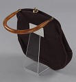 View Brown handbag with amber handle from Mae's Millinery Shop digital asset number 5