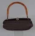 View Brown handbag with amber handle from Mae's Millinery Shop digital asset number 6