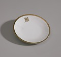 View White plate with gold trim from Mae's Millinery Shop digital asset number 0