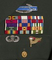 View US Army green service uniform jacket and service medals worn by Colin L. Powell digital asset number 2