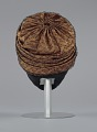 View Rust satin and black lace turban from Mae's Millinery Shop digital asset number 3