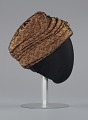 View Rust satin and black lace turban from Mae's Millinery Shop digital asset number 4