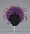 View Purple tulle cap with pink and purple feathers from Mae's Millinery Shop digital asset number 1