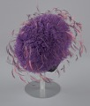 View Purple tulle cap with pink and purple feathers from Mae's Millinery Shop digital asset number 5