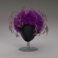 View Purple tulle cap with pink and purple feathers from Mae's Millinery Shop digital asset number 7