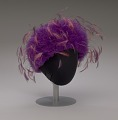View Purple tulle cap with pink and purple feathers from Mae's Millinery Shop digital asset number 8