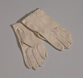 View Pair of small taupe gloves with embroidery from Mae's Millinery Shop digital asset number 0