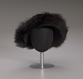View Black felt hat with faux fur trim from Mae's Millinery Shop digital asset number 7