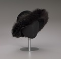 View Black felt hat with faux fur trim from Mae's Millinery Shop digital asset number 8