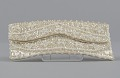 View Ivory satin clutch with sequins and beading from Mae's Millinery Shop digital asset number 0