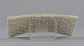 View Ivory satin clutch with sequins and beading from Mae's Millinery Shop digital asset number 3