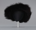 View Black felt hat with faux fur trim from Mae's Millinery Shop digital asset number 1