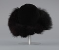 View Black felt hat with faux fur trim from Mae's Millinery Shop digital asset number 3