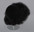 View Black felt hat with faux fur trim from Mae's Millinery Shop digital asset number 5