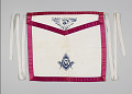 View White canvas Masonic apron owned by H.C. Anderson digital asset number 0