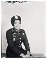 View Studio Portrait of a Woman Sitting Wearing a Military Uniform digital asset number 0