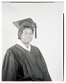 View Studio Portrait of a Woman Sitting, Wearing a Cap and Gown digital asset number 0