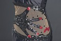 View Black satin dress with hand-shaped decoration designed by Peter Davy digital asset number 3