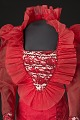 View Red dress with ruffled collar designed by Peter Davy digital asset number 2