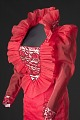 View Red dress with ruffled collar designed by Peter Davy digital asset number 3
