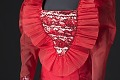 View Red dress with ruffled collar designed by Peter Davy digital asset number 4