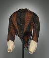 View Woman's day ensemble in brown and black silk moiré taffeta digital asset number 1