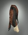 View Woman's day ensemble in brown and black silk moiré taffeta digital asset number 4
