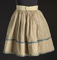 View Printed floral skirt worn by Lucy Lee Shirley as a child digital asset number 1