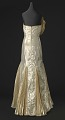 View Gold lamé strapless dress designed by Peter Davy digital asset number 1