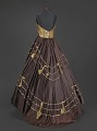 View Brown halter dress with gold music themed embellishments designed by Peter Davy digital asset number 1