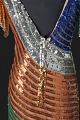 View Fitted dress with rainbow sequins and beading designed by Peter Davy digital asset number 7